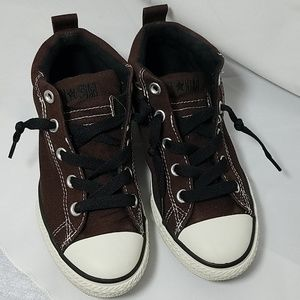 Converse Dark Brown Mid Top All Star